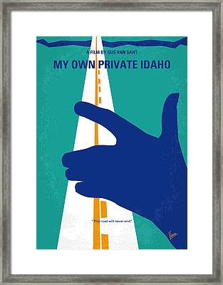 No472 My Own Private Idaho Minimal Movie Poster Framed Print by Chungkong Art
