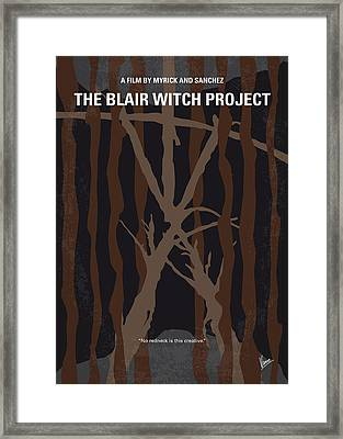 No476 My The Blair Witch Project Minimal Movie Poster Framed Print by Chungkong Art