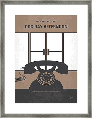 No479 My Dog Day Afternoon Minimal Movie Poster Framed Print by Chungkong Art