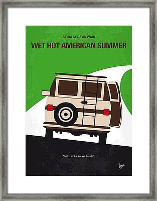 No481 My Wet Hot American Summer Minimal Movie Poster Framed Print by Chungkong Art