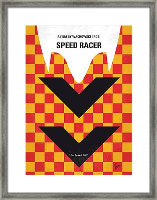 No482 My Speed Racer Minimal Movie Poster Framed Print by Chungkong Art
