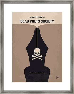 No486 My Dead Poets Society Minimal Movie Poster Framed Print by Chungkong Art