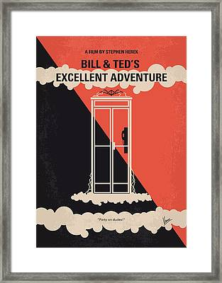 No490 My Bill And Teds Excellent Adventure Minimal Movie Poster Framed Print by Chungkong Art