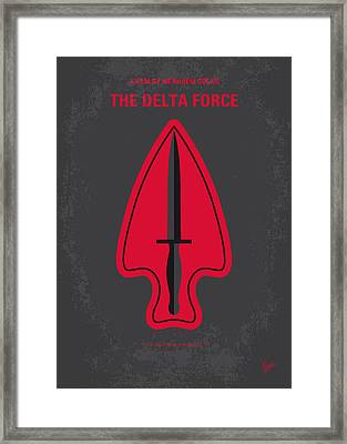 No493 My The Delta Force Minimal Movie Poster Framed Print by Chungkong Art