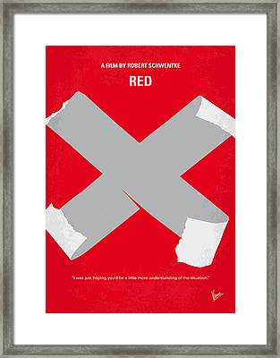 No495 My Red Minimal Movie Poster Framed Print by Chungkong Art
