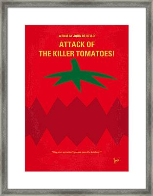 No499 My Attack Of The Killer Tomatoes Minimal Movie Poster Framed Print by Chungkong Art