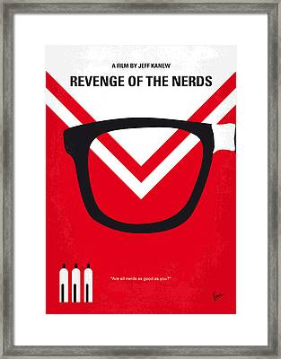 No504 My Revenge Of The Nerds Minimal Movie Poster Framed Print by Chungkong Art