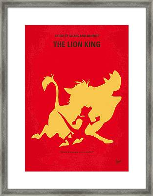No512 My The Lion King Minimal Movie Poster Framed Print by Chungkong Art