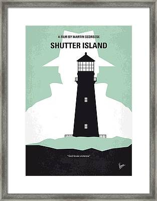 No513 My Shutter Island Minimal Movie Poster Framed Print by Chungkong Art