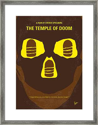 No517 My The Temple Of Doom Minimal Movie Poster Framed Print by Chungkong Art