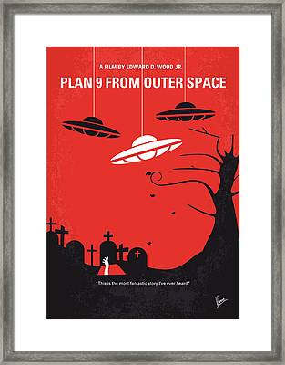 No518 My Plan 9 From Outer Space Minimal Movie Poster Framed Print by Chungkong Art