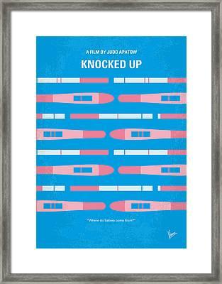 No521 My Knocked Up Minimal Movie Poster Framed Print by Chungkong Art