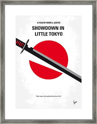 No522 My Showdown In Little Tokyo Minimal Movie Framed Print by Chungkong Art
