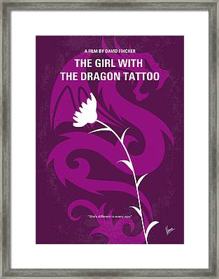 No528 My The Girl With The Dragon Tattoo Minimal Movie Poster Framed Print by Chungkong Art