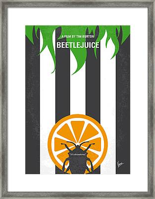 No531 My Beetlejuice Minimal Movie Poster Framed Print by Chungkong Art