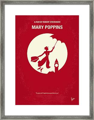 No539 My Mary Poppins Minimal Movie Poster Framed Print by Chungkong Art