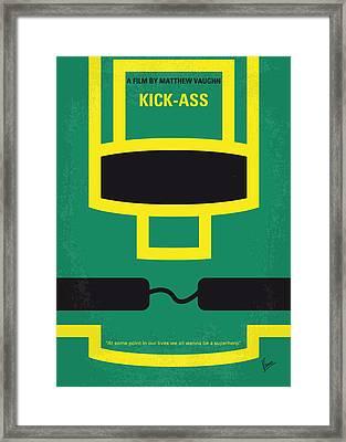 No544 My Kick-ass Minimal Movie Poster Framed Print by Chungkong Art