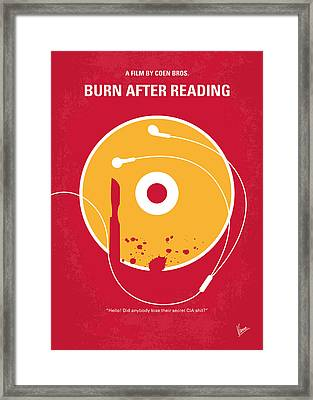 No547 My Burn After Reading Minimal Movie Poster Framed Print by Chungkong Art