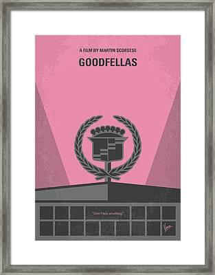 No549 My Goodfellas Minimal Movie Poster Framed Print by Chungkong Art