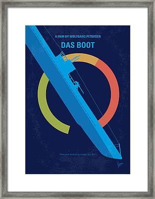 No553 My Das Boot Minimal Movie Poster Framed Print by Chungkong Art