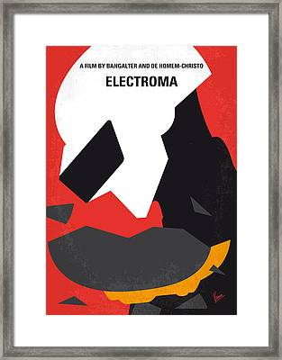 No556 My Electroma Minimal Movie Poster Framed Print by Chungkong Art