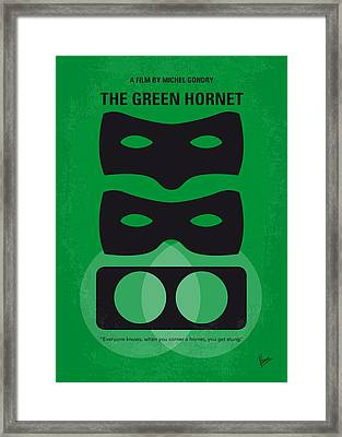 No561 My The Green Hornet Minimal Movie Poster Framed Print by Chungkong Art