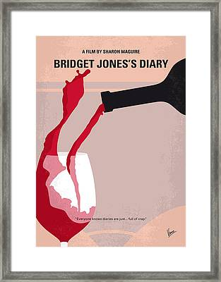 No563 My Bridget Jones Diary Minimal Movie Poster Framed Print by Chungkong Art