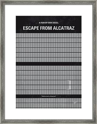 No566 My Escape From Alcatraz Minimal Movie Poster Framed Print by Chungkong Art
