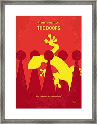 No573 My The Doors Minimal Movie Poster Framed Print by Chungkong Art