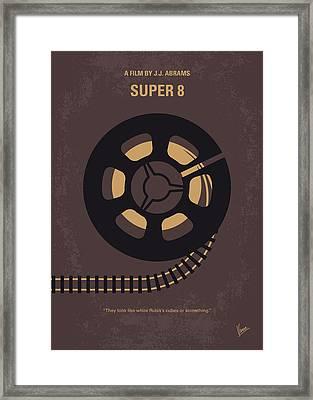 No578 My Super 8 Minimal Movie Poster Framed Print by Chungkong Art