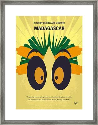No589 My Madagascar Minimal Movie Poster Framed Print by Chungkong Art