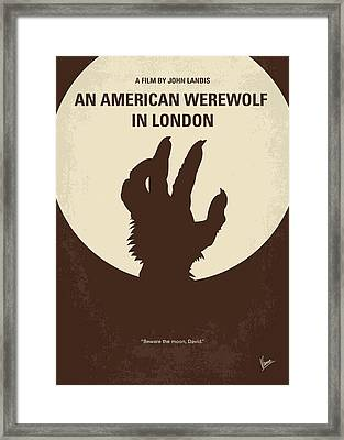 No593 My American Werewolf In London Minimal Movie Poster Framed Print by Chungkong Art