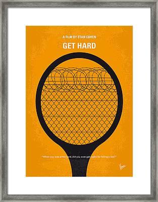 No594 My Get Hard Minimal Movie Poster Framed Print by Chungkong Art