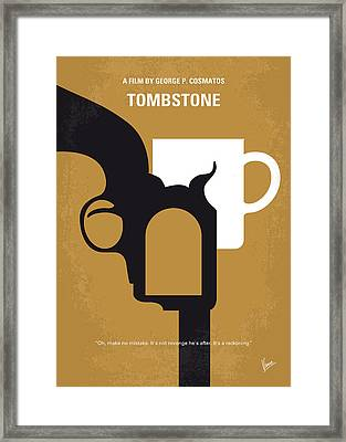 No596 My Tombstone Minimal Movie Poster Framed Print by Chungkong Art
