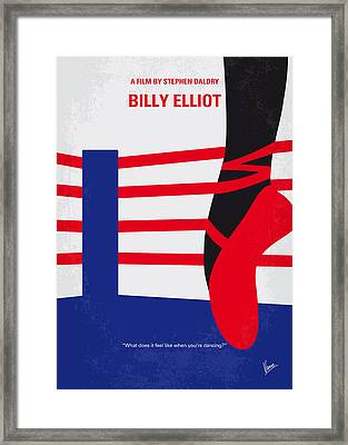 No597 My Billy Elliot Minimal Movie Poster Framed Print by Chungkong Art