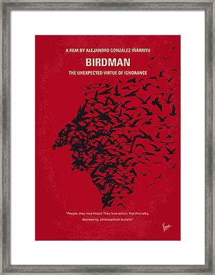No604 My Birdman Minimal Movie Poster Framed Print by Chungkong Art