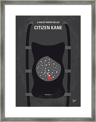 No605 My Citizen Kane Minimal Movie Poster Framed Print by Chungkong Art