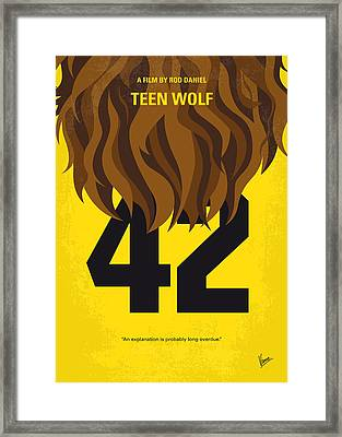 No607 My Teen Wolf Minimal Movie Poster Framed Print by Chungkong Art