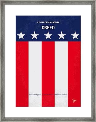 No608 My Creed Minimal Movie Poster Framed Print by Chungkong Art
