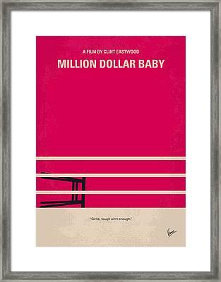 No613 My Million Dollar Baby Minimal Movie Poster Framed Print by Chungkong Art