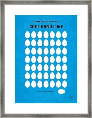 No616 My Cool Hand Luke Minimal Movie Poster Framed Print by Chungkong Art