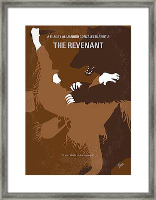No623 My The Revenant Minimal Movie Poster Framed Print by Chungkong Art
