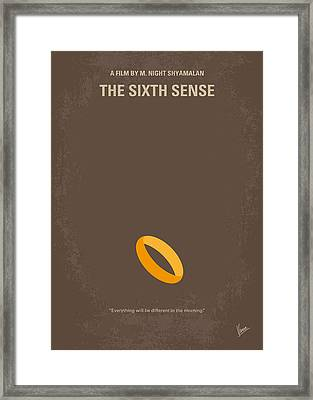 No638 My The Sixth Sense Minimal Movie Poster Framed Print by Chungkong Art