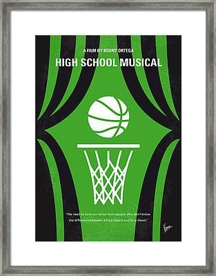 No633 My High School Musical Minimal Movie Poster Framed Print by Chungkong Art