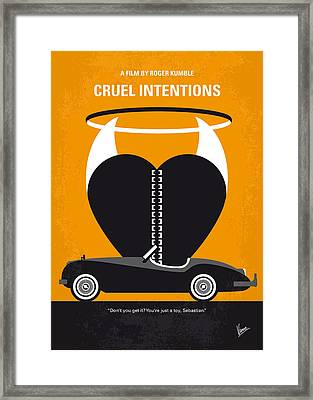 No635 My Cruel Intentions Minimal Movie Poster Framed Print by Chungkong Art