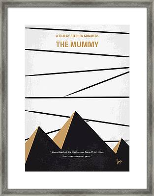 No642 My The Mummy Minimal Movie Poster Framed Print by Chungkong Art