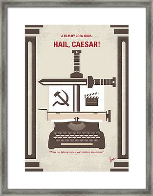 No645 My Hail Caesar Minimal Movie Poster Framed Print by Chungkong Art