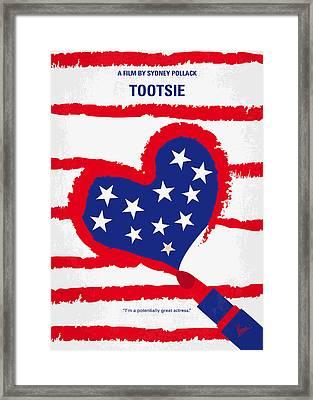 No646 My Tootsie Minimal Movie Poster Framed Print by Chungkong Art