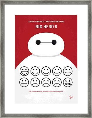 No649 My Big Hero 6 Minimal Movie Poster Framed Print by Chungkong Art