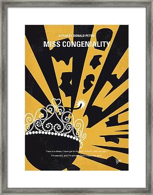 No652 My Miss Congeniality Minimal Movie Poster Framed Print by Chungkong Art